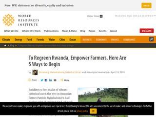 To Regreen Rwanda, Empower Farmers. Here Are 5 Ways to Begin