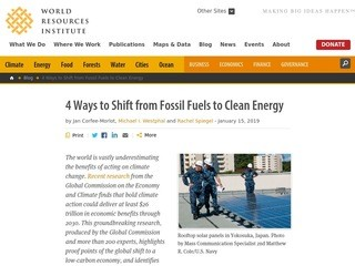 4 Ways to Shift from Fossil Fuels to Clean Energy